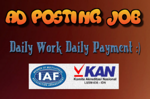 Ad posting job daily payment: Truest ISO Certified Company in India