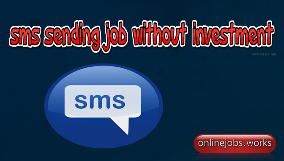 Sms sending jobs without investment in pakistan company r&d investment model