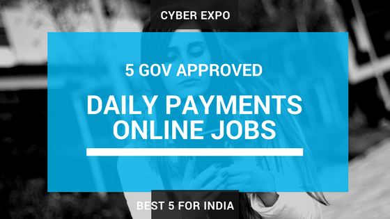 5 GOV  Daily Payments Online Jobs to Earn 45K Without Investment
