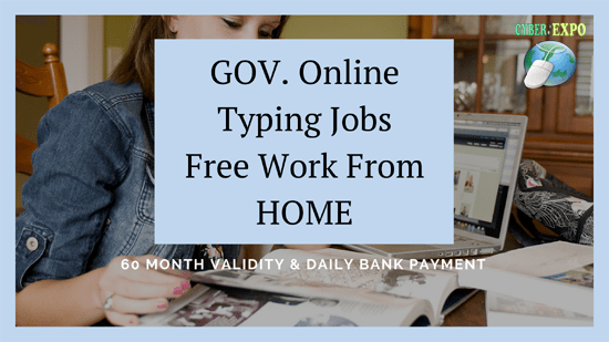 GOV  Online Typing Jobs (Rs-2580 Daily Payment)Free Work From HOME