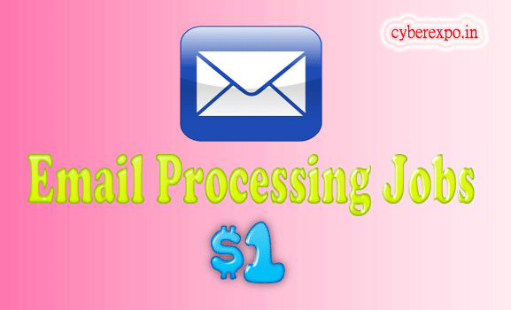 Email processing jobs scam