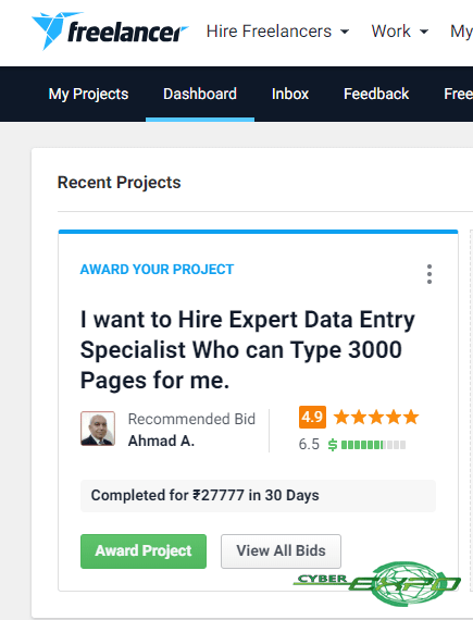 freelancer data entry projects set milestone and bid on it type N earn copy